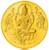 10 Gm 24Kt Purity 995 Fineness Goddess Lakshmi Printed Gold Coin