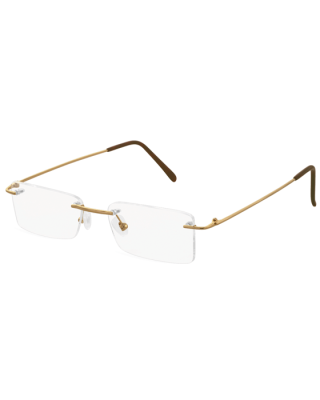 Rimless Plain Gold 128