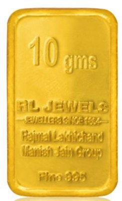 10 Gm 24Kt purity 995 Fineness RL Jewels printed Gold Chip