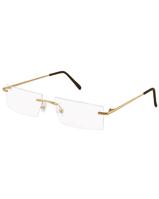 Rimless Plain Gold 130